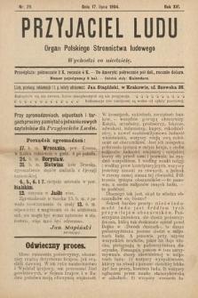 Przyjaciel Ludu : organ Polskiego Stronnictwa Ludowego. 1904, nr29
