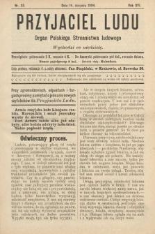 Przyjaciel Ludu : organ Polskiego Stronnictwa Ludowego. 1904, nr33