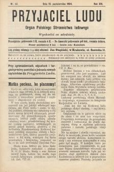 Przyjaciel Ludu : organ Polskiego Stronnictwa Ludowego. 1904, nr42