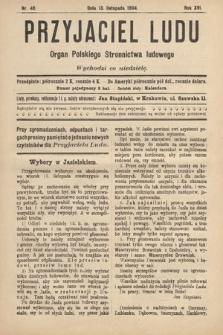 Przyjaciel Ludu : organ Polskiego Stronnictwa Ludowego. 1904, nr46