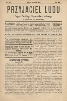 Przyjaciel Ludu : organ Polskiego Stronnictwa Ludowego. 1904, nr49