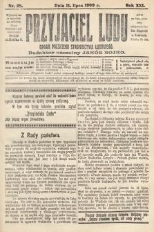 Przyjaciel Ludu : organ Polskiego Stronnictwa Ludowego. 1909, nr28