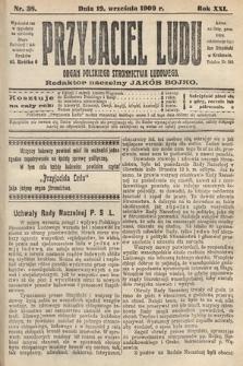 Przyjaciel Ludu : organ Polskiego Stronnictwa Ludowego. 1909, nr38