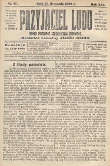 Przyjaciel Ludu : organ Polskiego Stronnictwa Ludowego. 1909, nr47