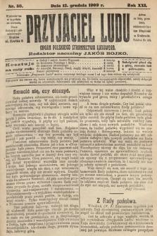 Przyjaciel Ludu : organ Polskiego Stronnictwa Ludowego. 1909, nr50