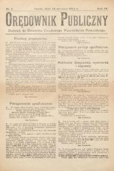 Orędownik Publiczny : dodatek do Dziennika Urzędowego Województwa Pomorskiego. 1925, nr2