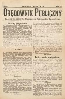 Orędownik Publiczny : dodatek do Dziennika Urzędowego Województwa Pomorskiego. 1925, nr3