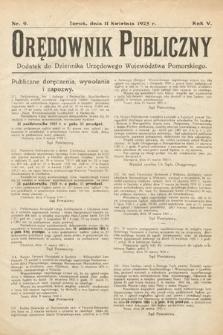 Orędownik Publiczny : dodatek do Dziennika Urzędowego Województwa Pomorskiego. 1925, nr9