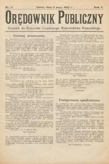 Orędownik Publiczny : dodatek do Dziennika Urzędowego Województwa Pomorskiego. 1925, nr11