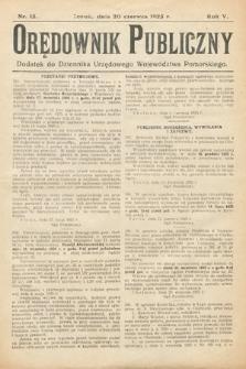 Orędownik Publiczny : dodatek do Dziennika Urzędowego Województwa Pomorskiego. 1925, nr15