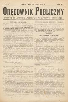 Orędownik Publiczny : dodatek do Dziennika Urzędowego Województwa Pomorskiego. 1925, nr18