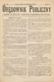 Orędownik Publiczny : dodatek do Dziennika Urzędowego Województwa Pomorskiego. 1925, nr28
