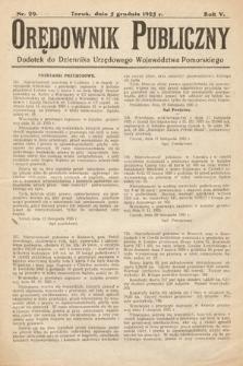 Orędownik Publiczny : dodatek do Dziennika Urzędowego Województwa Pomorskiego. 1925, nr29