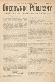 Orędownik Publiczny : dodatek do Dziennika Urzędowego Województwa Pomorskiego. 1925, nr30