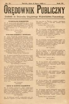 Orędownik Publiczny : dodatek do Dziennika Urzędowego Województwa Pomorskiego. 1926, nr21