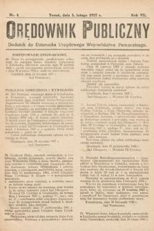 Orędownik Publiczny : dodatek do Dziennika Urzędowego Województwa Pomorskiego. 1927, nr4
