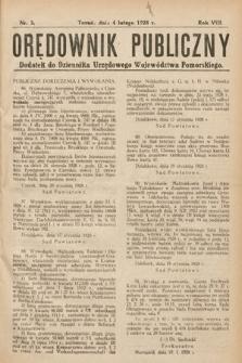 Orędownik Publiczny : dodatek do Dziennika Urzędowego Województwa Pomorskiego. 1928, nr3