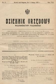 Dziennik Urzędowy Województwa Poleskiego. 1928, nr2