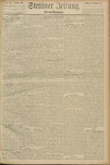 Stettiner Zeitung. 1889, Nr. 373 (29 Oktober) - Abend-Ausgabe