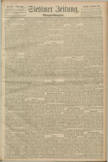 Stettiner Zeitung. 1889, Nr. 406 (1 Dezember) - Morgen-Ausgabe