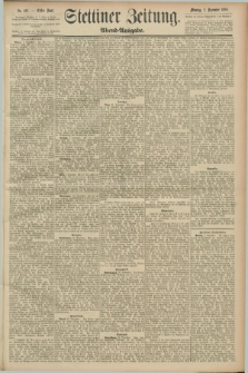 Stettiner Zeitung. 1889, Nr. 407 (2 November) - Abend-Ausgabe