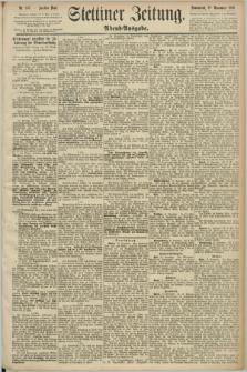 Stettiner Zeitung. 1890, Nr. 548 (22 November) - Abend-Ausgabe