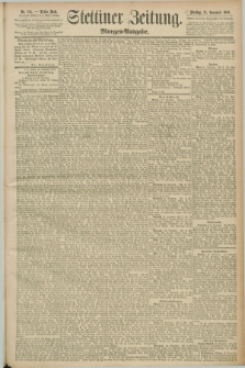 Stettiner Zeitung. 1890, Nr. 551 (25 November) - Morgen-Ausgabe