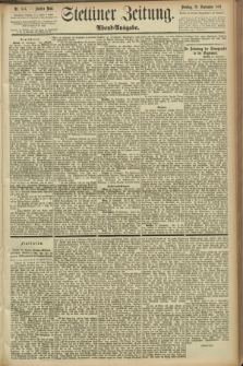 Stettiner Zeitung. 1891, Nr. 454 (29 September) - Abend-Ausgabe