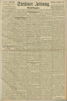 Stettiner Zeitung. 1898, Nr. 456 (29 September) - Abend-Ausgabe