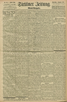 Stettiner Zeitung. 1898, Nr. 562 (1 Dezember) - Abend-Ausgabe
