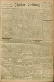 Stettiner Zeitung. 1900, Nr. 11 (14 Januar)