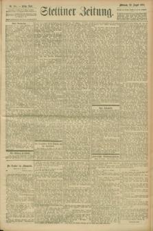 Stettiner Zeitung. 1900, Nr. 195 (22 August)