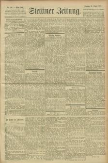 Stettiner Zeitung. 1900, Nr. 199 (26 August)