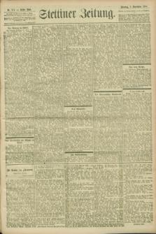 Stettiner Zeitung. 1900, Nr. 211 (9 September)