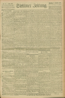 Stettiner Zeitung. 1900, Nr. 214 (13 September)