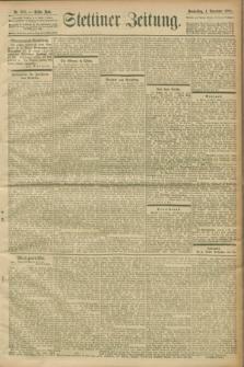 Stettiner Zeitung. 1900, Nr. 256 (1 November)