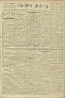 Stettiner Zeitung. 1900, Nr. 272 (20 November)