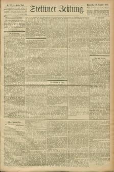 Stettiner Zeitung. 1900, Nr. 279 (29 November)