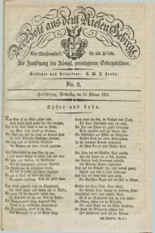 Der Bote aus dem Riesen-Gebirge : als Fortsetzung der Königl. privilegirten Gebirgsblätter : eine Wochenschrift für alle Stände. Jg.20, No. 8 (23 Februar 1832) + dod.
