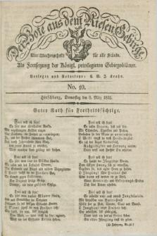 Der Bote aus dem Riesen-Gebirge : als Fortsetzung der Königl. privilegirten Gebirgsblätter : eine Wochenschrift für alle Stände. Jg.20, No. 10 (8 März 1832) + dod.