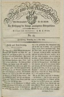 Der Bote aus dem Riesen-Gebirge : als Fortsetzung der Königl. privilegirten Gebirgsblätter : eine Wochenschrift für alle Stände. Jg.20, No. 18 (3 Mai 1832) + dod.