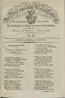 Der Bote aus dem Riesen-Gebirge : als Fortsetzung der Königl. privilegirten Gebirgsblätter : eine Wochenschrift für alle Stände. Jg.20, No. 23 (7 Juni 1832) + dod.
