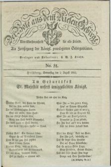 Der Bote aus dem Riesen-Gebirge : als Fortsetzung der Königl. privilegirten Gebirgsblätter : eine Wochenschrift für alle Stände. Jg.20, No. 31 (2 August 1832) + dod. + wkładka