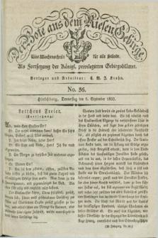 Der Bote aus dem Riesen-Gebirge : als Fortsetzung der Königl. privilegirten Gebirgsblätter : eine Wochenschrift für alle Stände. Jg.20, No. 36 (6 September 1832) + dod.