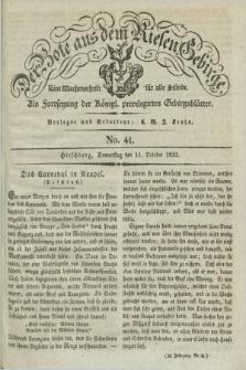 Der Bote aus dem Riesen-Gebirge : als Fortsetzung der Königl. privilegirten Gebirgsblätter : eine Wochenschrift für alle Stände. Jg.20, No. 41 (11 October 1832) + dod.