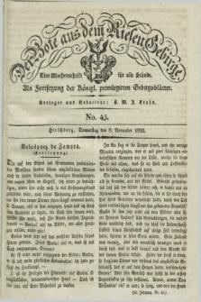 Der Bote aus dem Riesen-Gebirge : als Fortsetzung der Königl. privilegirten Gebirgsblätter : eine Wochenschrift für alle Stände. Jg.20, No. 45 (8 November 1832) + dod.