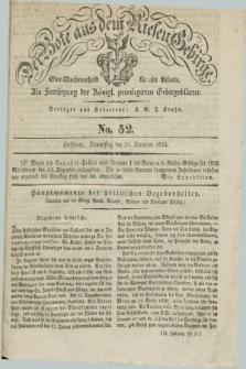 Der Bote aus dem Riesen-Gebirge : als Fortsetzung der Königl. privilegirten Gebirgsblätter : eine Wochenschrift für alle Stände. Jg.22, No. 52 (25 December 1834) + dod.