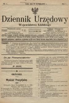 Dziennik Urzędowy Województwa Łódzkiego. 1922, nr4