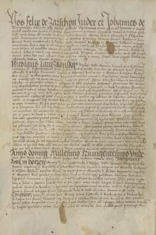 Dokument sądu ziemskiego sanockiego zawierający treść akt Mikołaja Lanckorońskiego dotyczących sporu między Piotrem Odnowskim a Maciejem Wzdowskim o granicę między ich rolami w Bukowsku i Nowotańcu