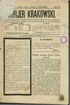 Kurjer Krakowski. R.3, nr 232 (4 lutego 1889)